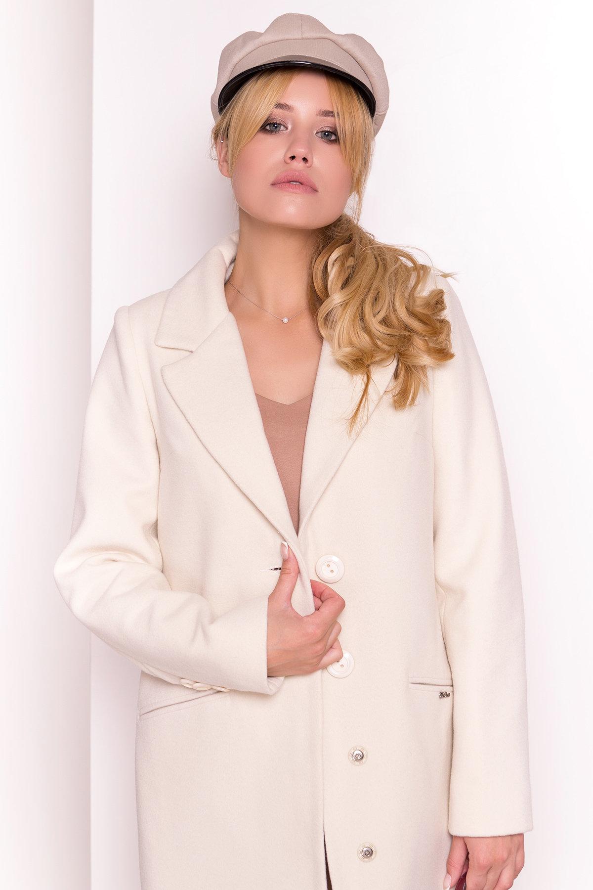 Пальто Кайра 1986 АРТ. 13671 Цвет: Светло-бежевый - фото 2, интернет магазин tm-modus.ru