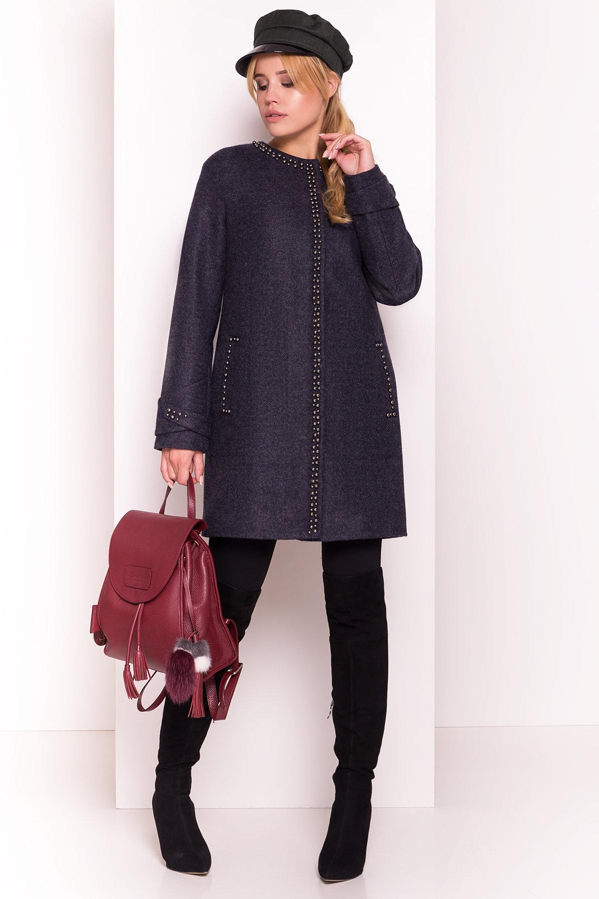 Пальто Анси 4544 Цвет: Темно-синий