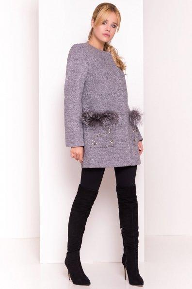 Пальто Ажен 1710 Цвет: Серый 48