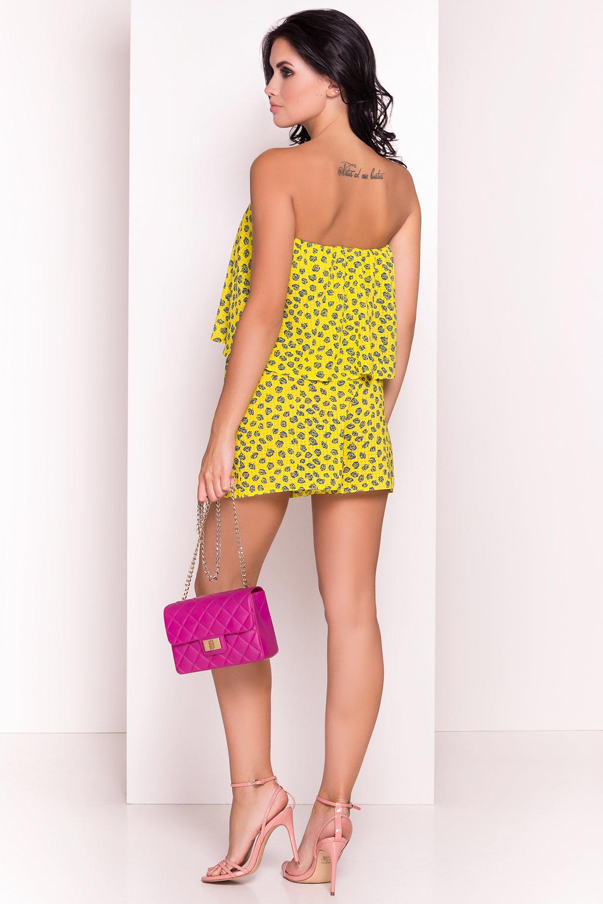 TW Комбинезон Никки 5261 АРТ. 36508 Цвет: Желтый розы темно-синие - фото 3, интернет магазин tm-modus.ru