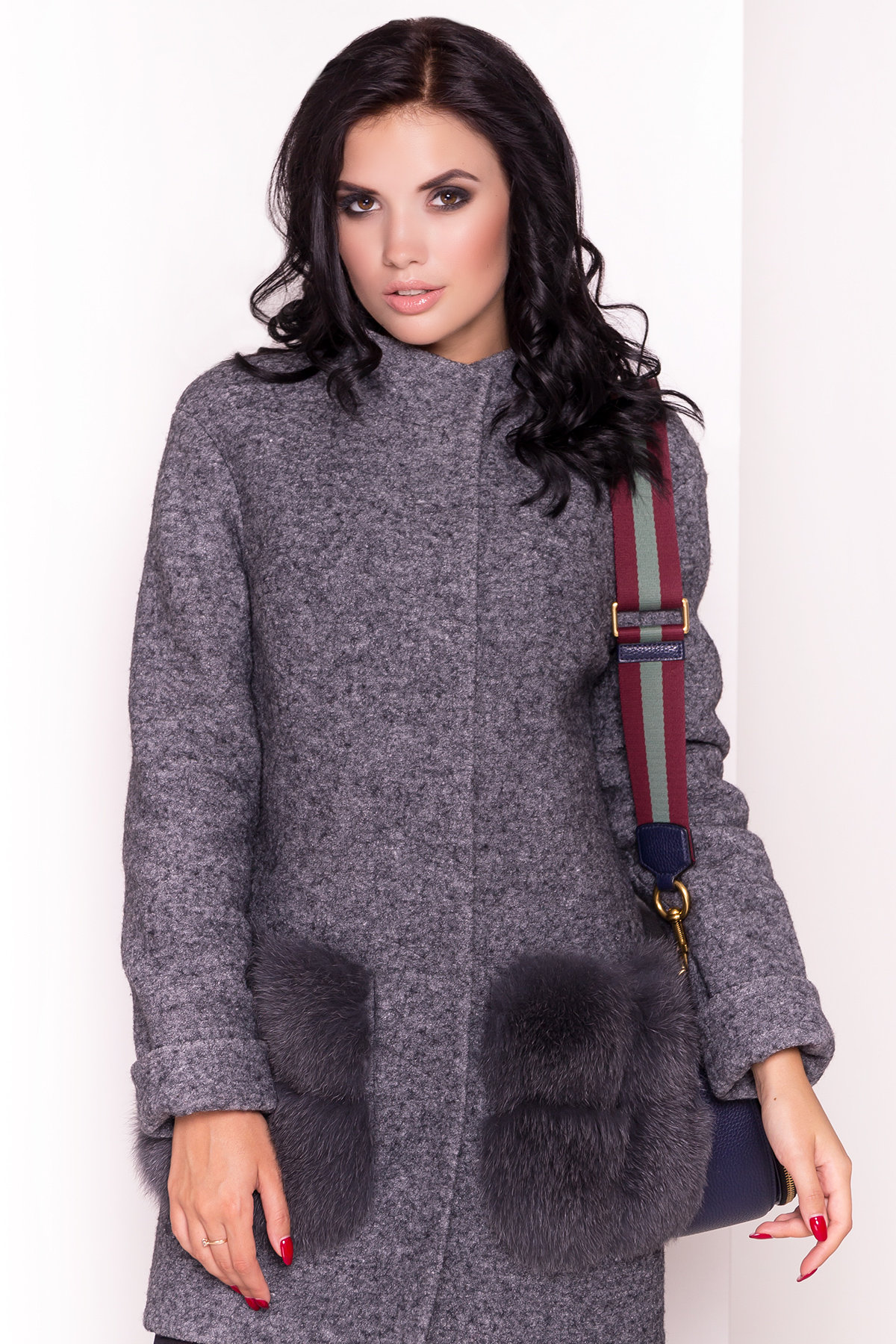 Пальто зима Клодис 3811 Цвет: Серый Темный LW-5