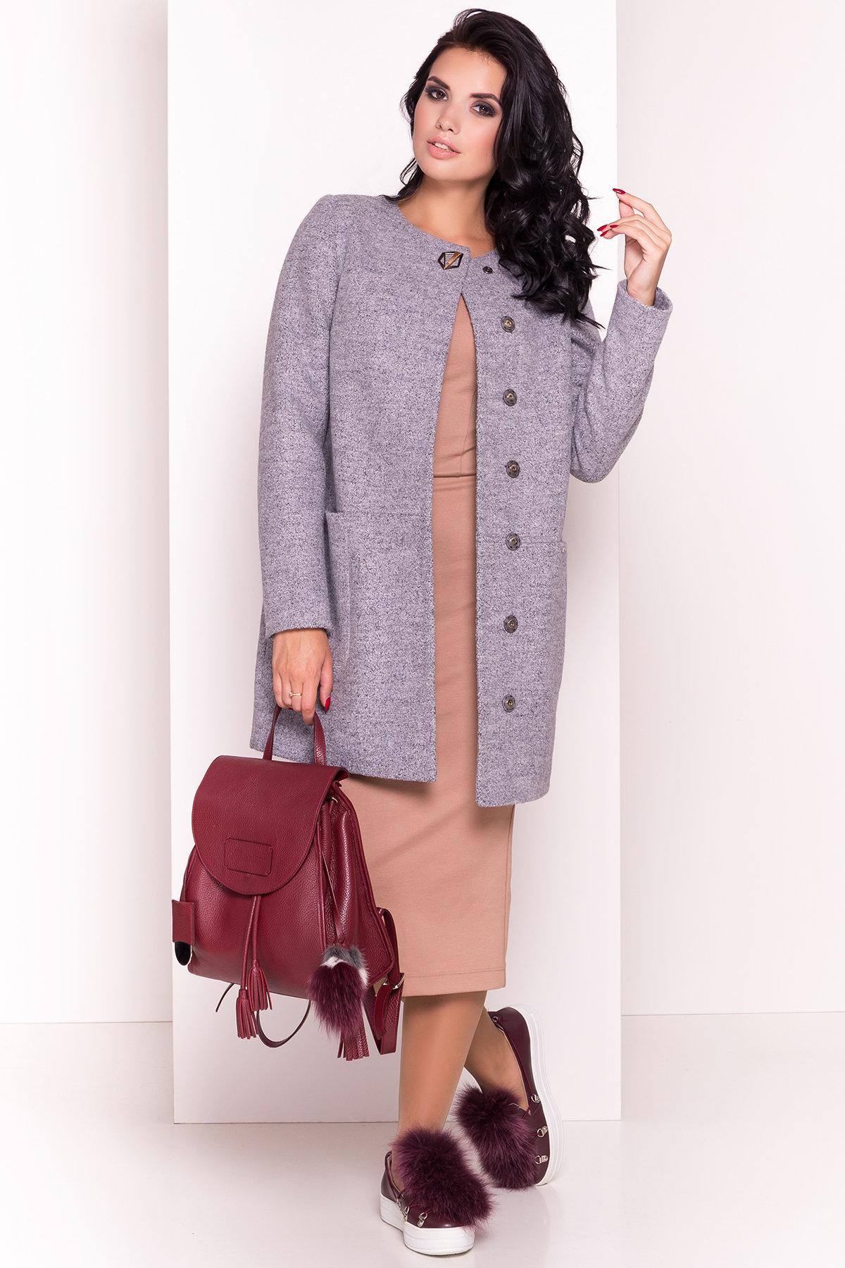 Пальто на весну Дакс 1679 АРТ. 9498 Цвет: Серый 48 - фото 1, интернет магазин tm-modus.ru