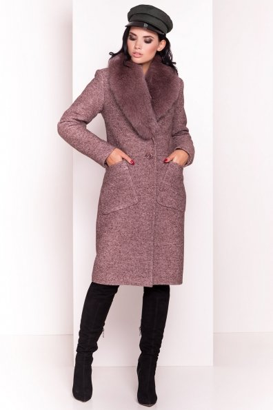 Пальто зима Габриэлла 4155 Цвет: Кофе LW-4