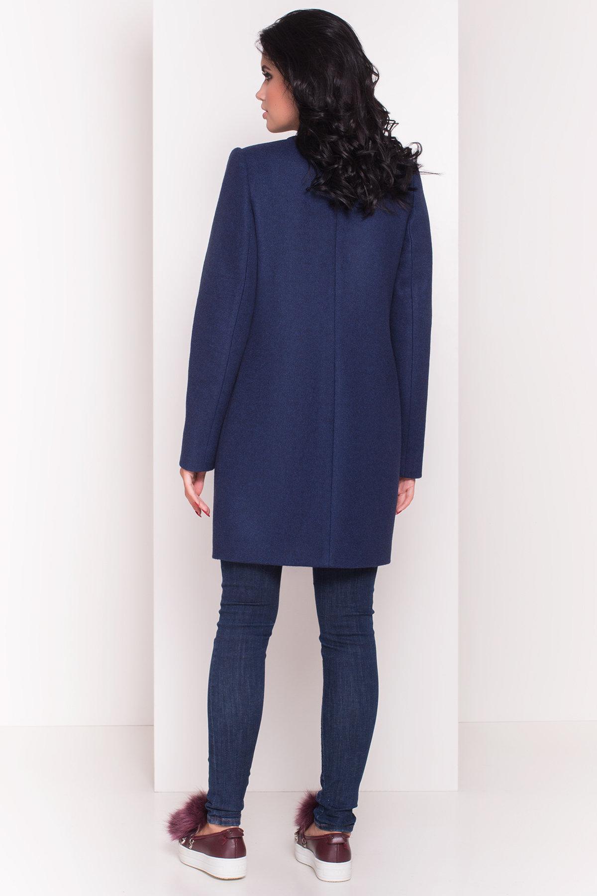 Демисезонное пальто Ферран 5369 АРТ. 36546 Цвет: Темно-синий 17 - фото 3, интернет магазин tm-modus.ru