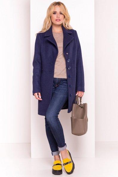 Стильное демисезонное пальто Габриэлла 5295 Цвет: Темно-синий 17