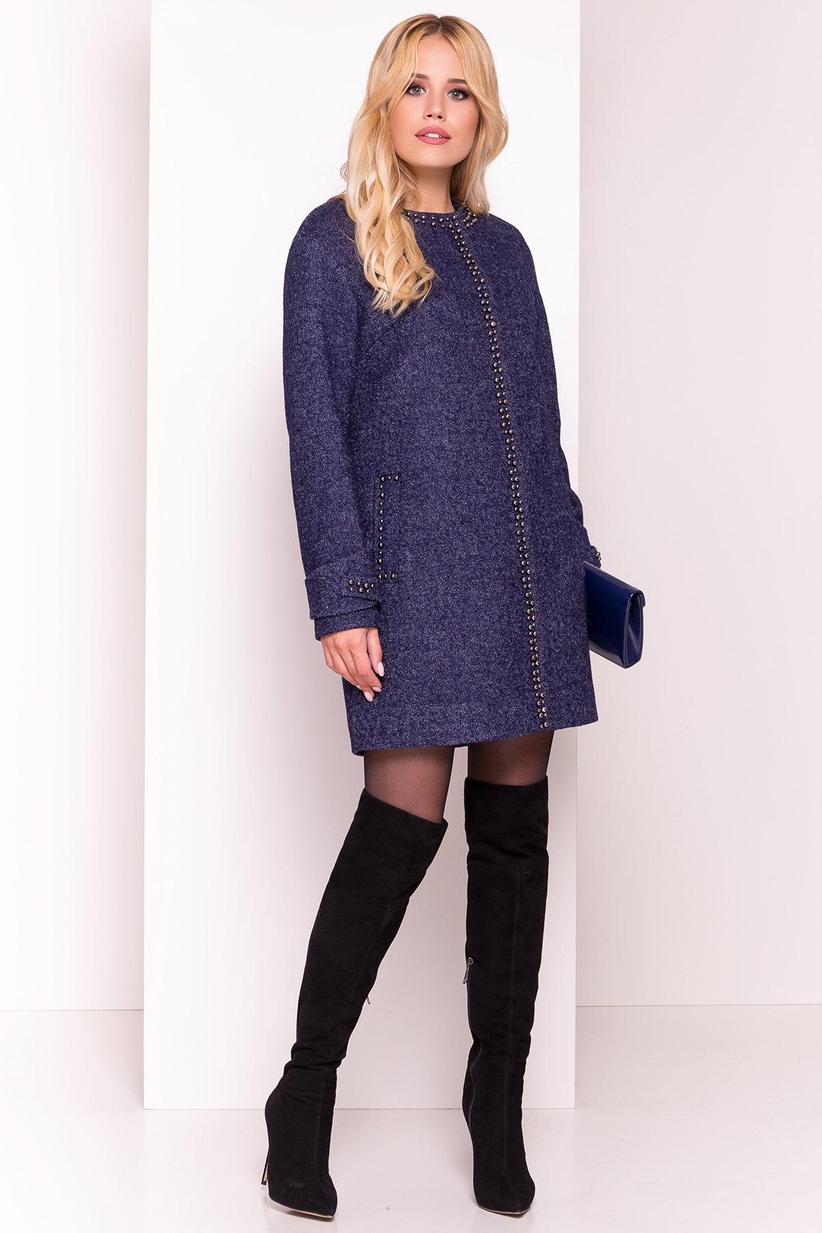 Пальто Анси 3429 Цвет: Темно-синий