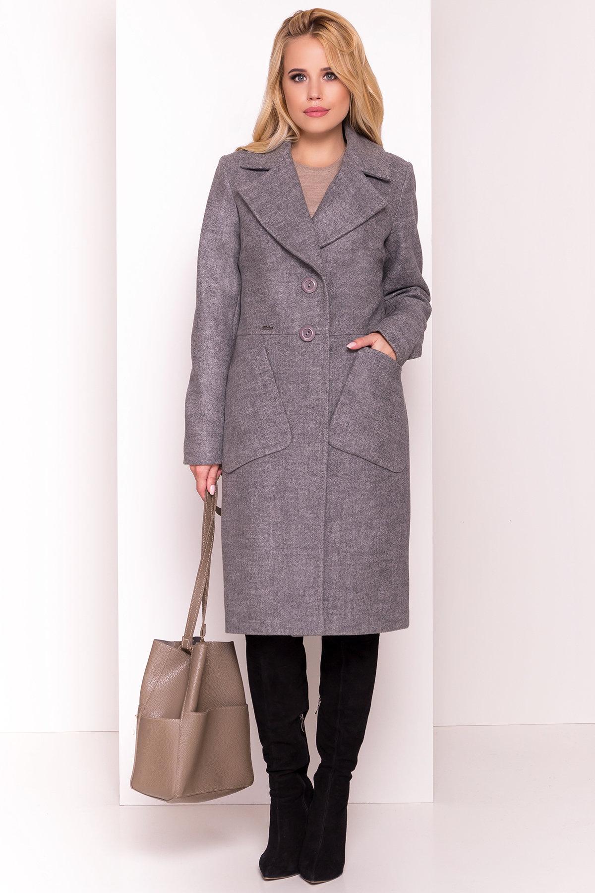 Пальто Габриэлла 4459 АРТ. 21654 Цвет: Серый 18 - фото 2, интернет магазин tm-modus.ru