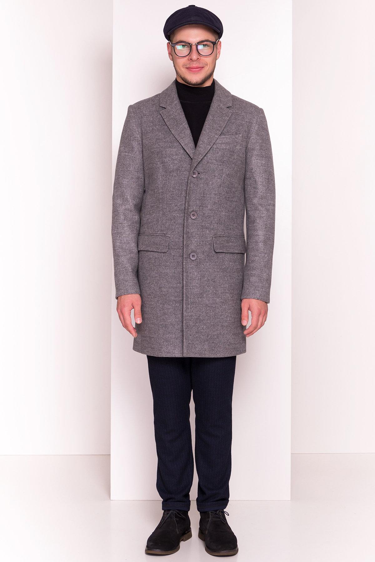 Пальто мужское Пако 5235 АРТ. 36435 Цвет: Серый - фото 2, интернет магазин tm-modus.ru