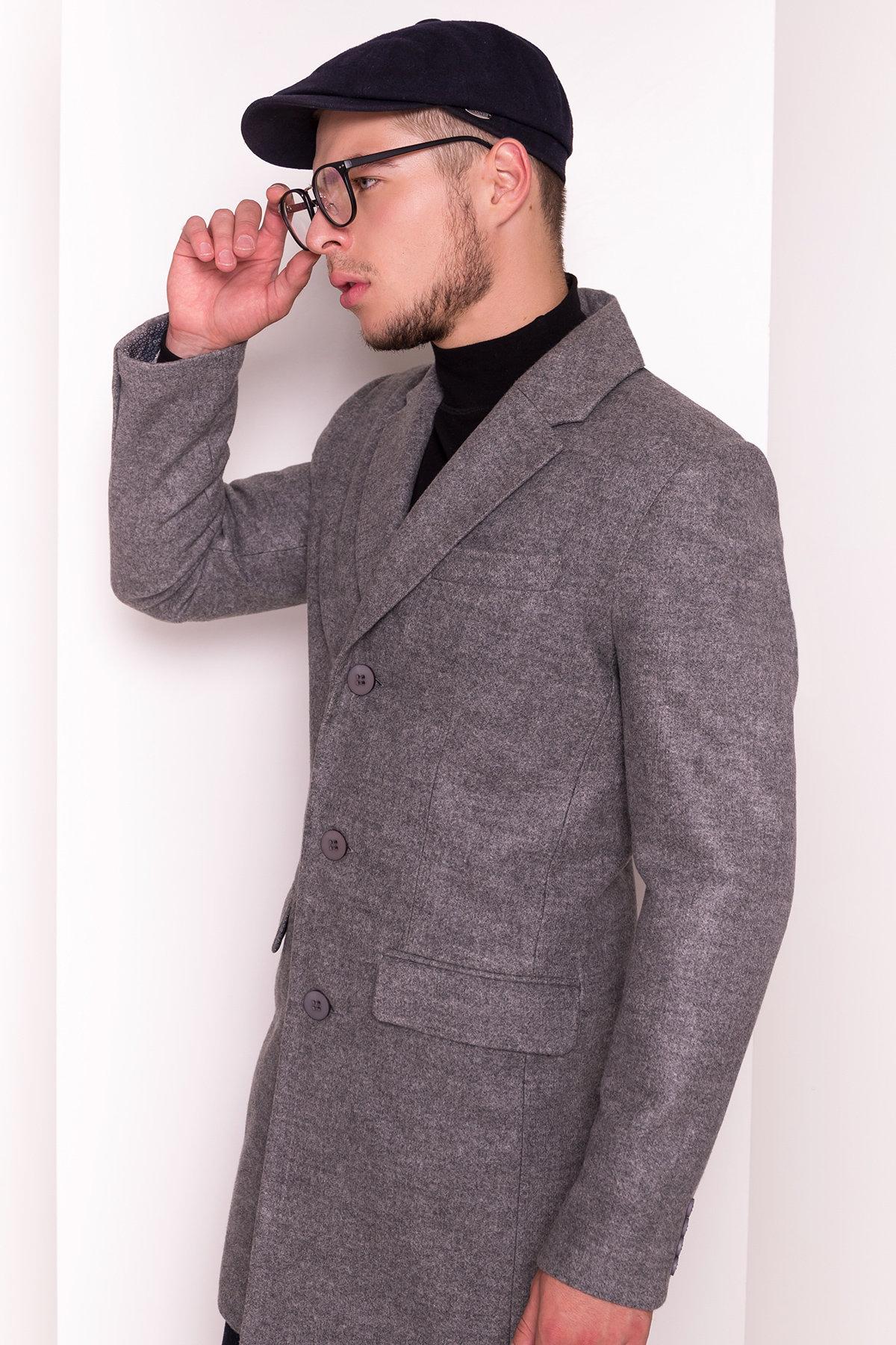 Пальто мужское Пако 5235 АРТ. 36435 Цвет: Серый - фото 4, интернет магазин tm-modus.ru