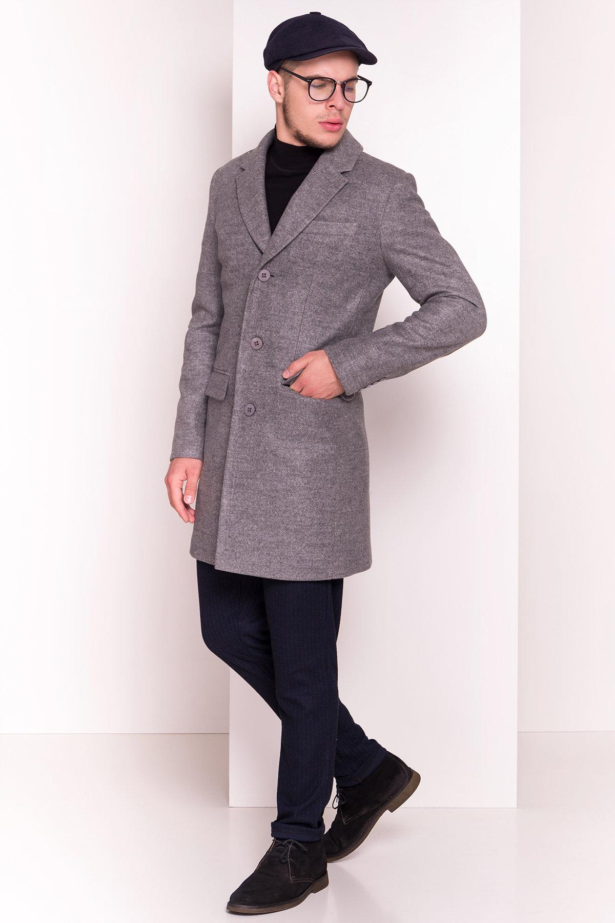 Пальто мужское Пако 5235 АРТ. 36435 Цвет: Серый - фото 3, интернет магазин tm-modus.ru