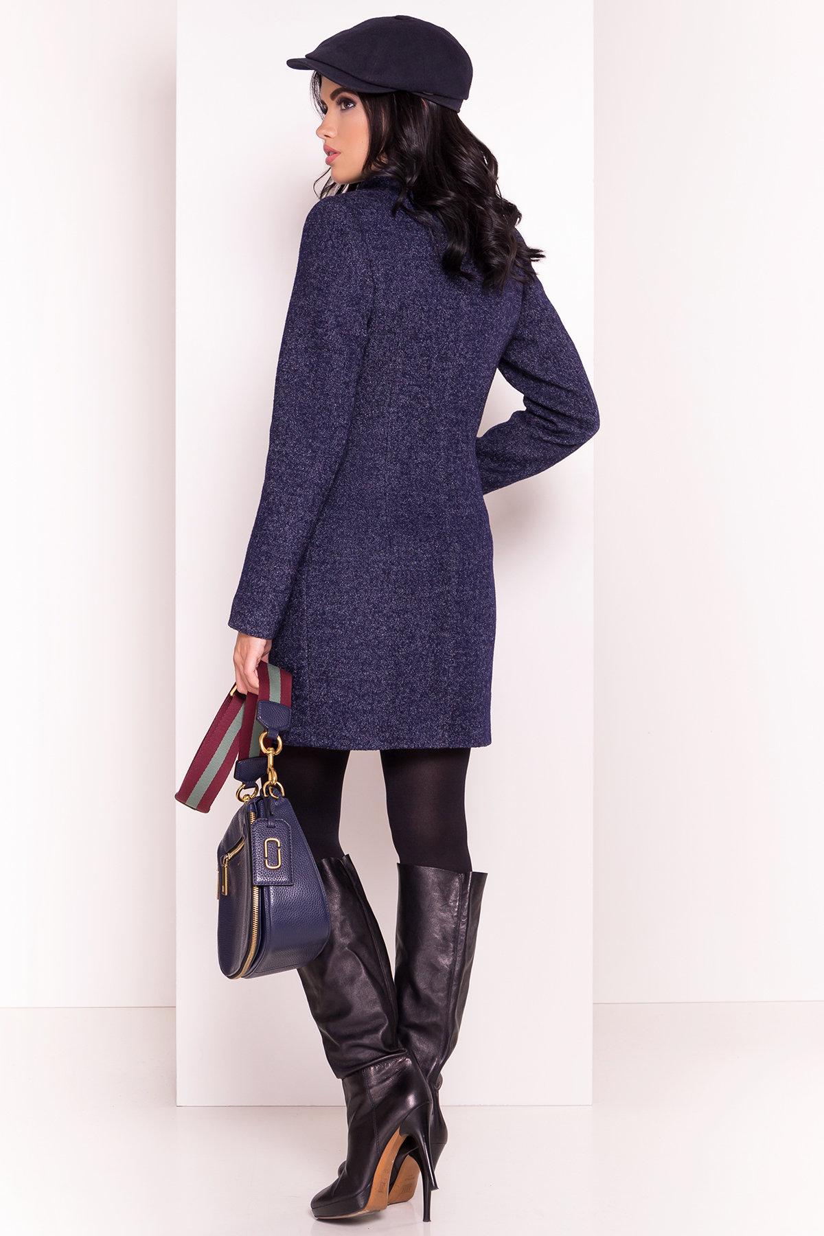 Пальто Сплит 1615 Цвет: Темно-синий