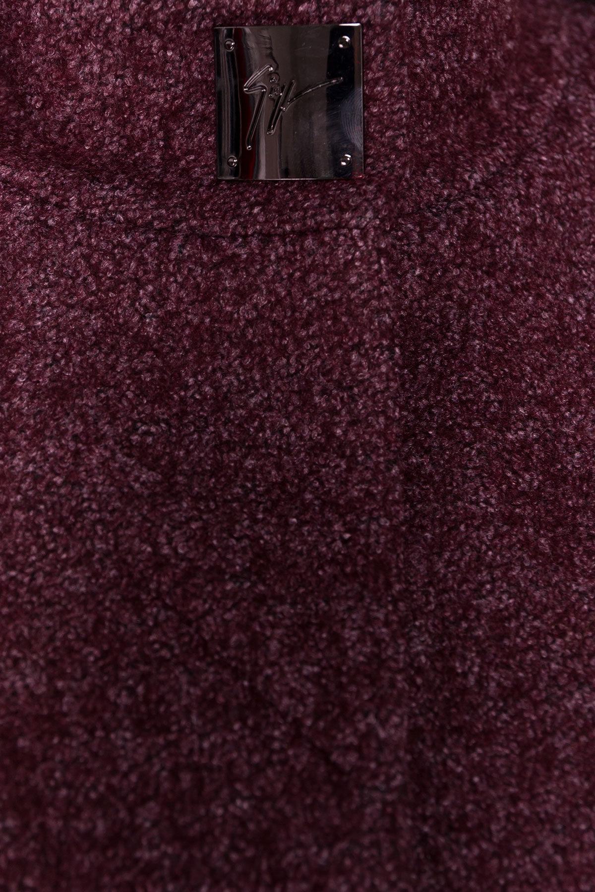 Пальто Сплит 1615 АРТ. 16640 Цвет: Марсала - фото 5, интернет магазин tm-modus.ru