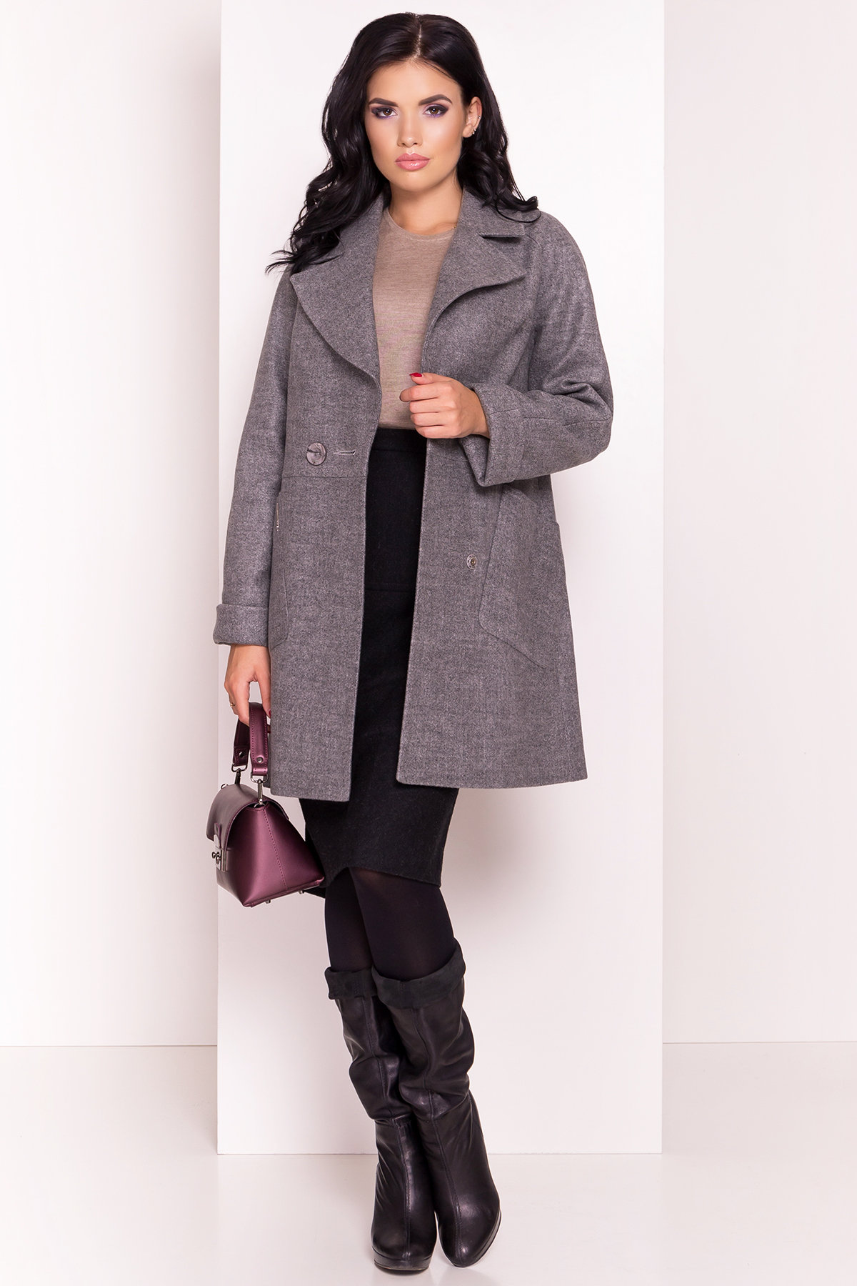 Пальто Модика 4552 Цвет: Серый 18