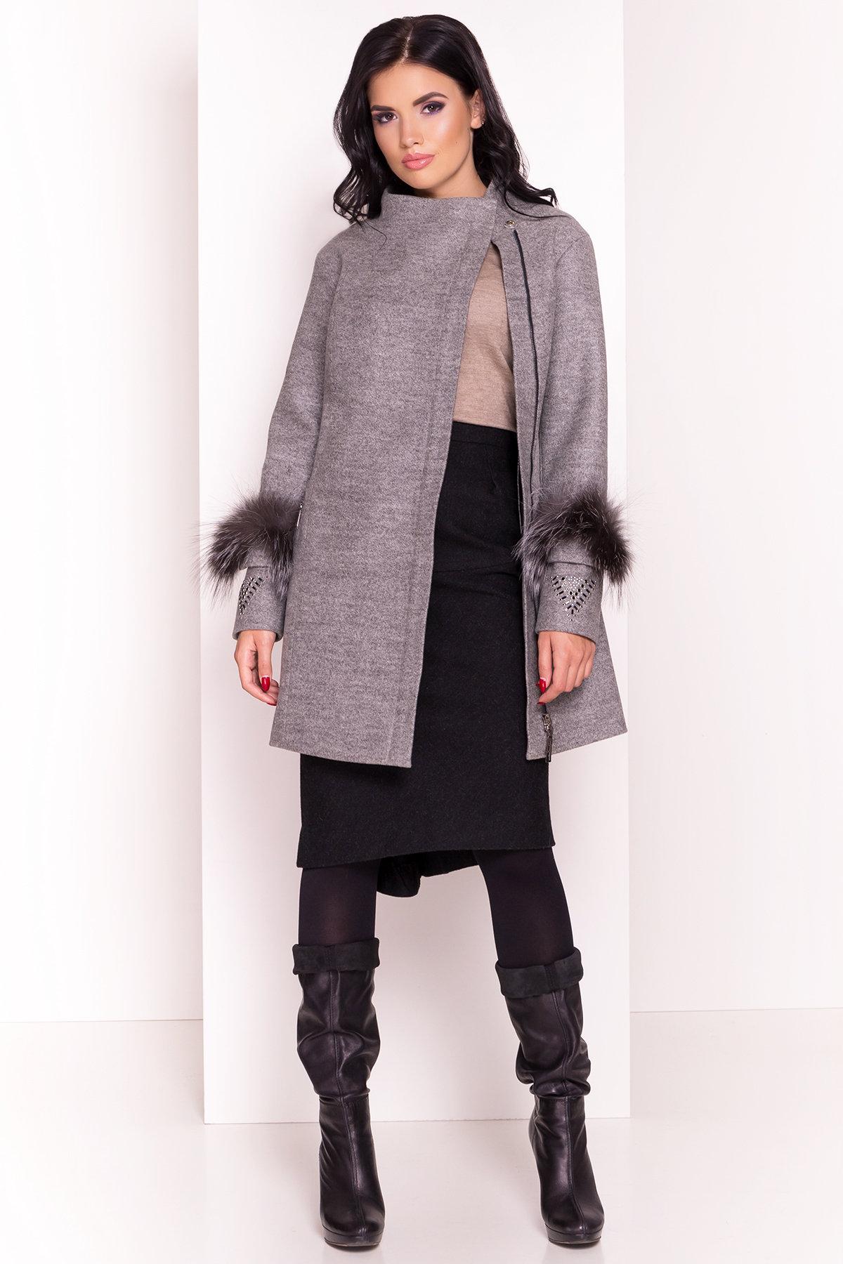 Пальто Лорин 4478 Цвет: Серый Светлый