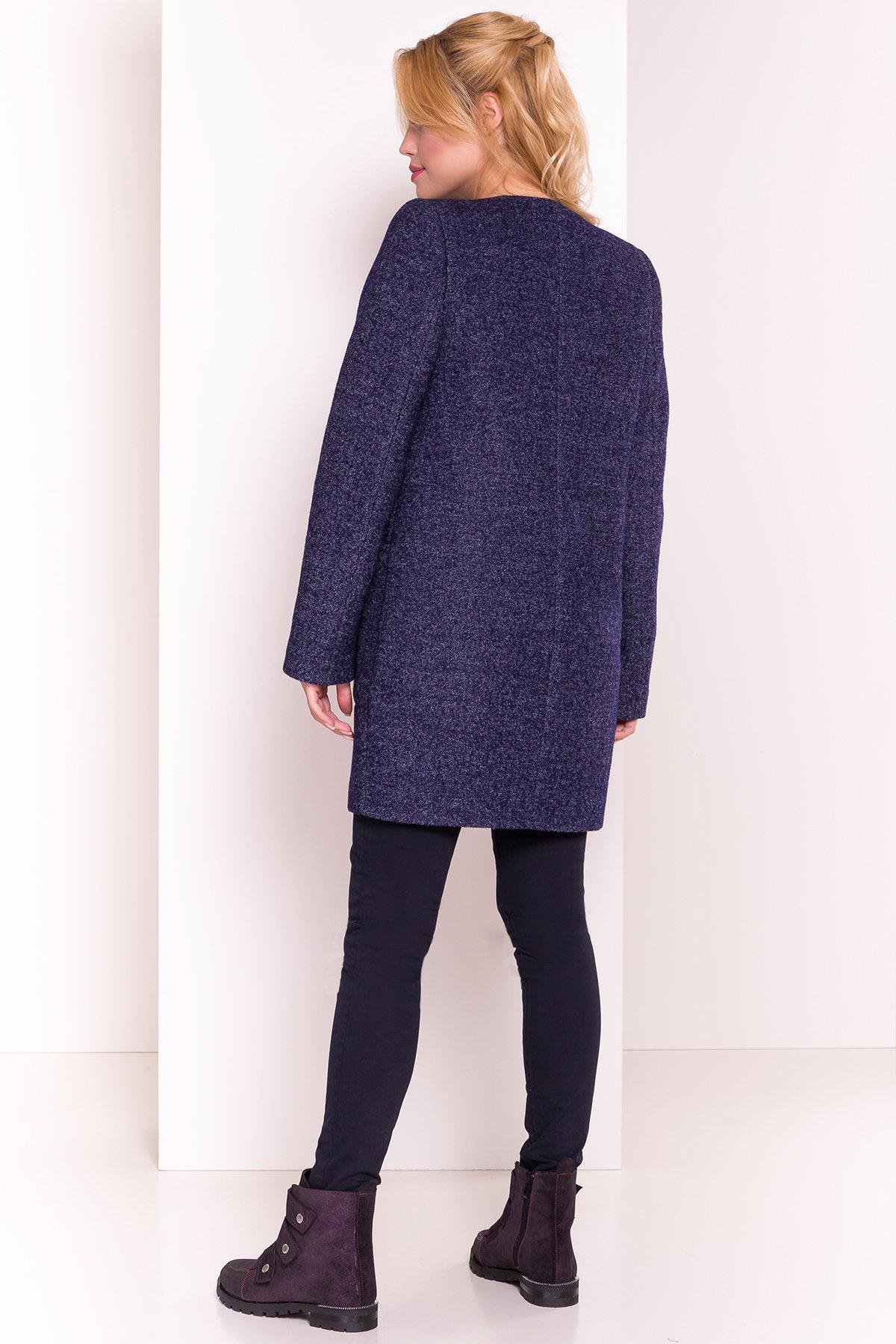Пальто Дакс 1679 АРТ. 16669 Цвет: Темно-синий - фото 4, интернет магазин tm-modus.ru