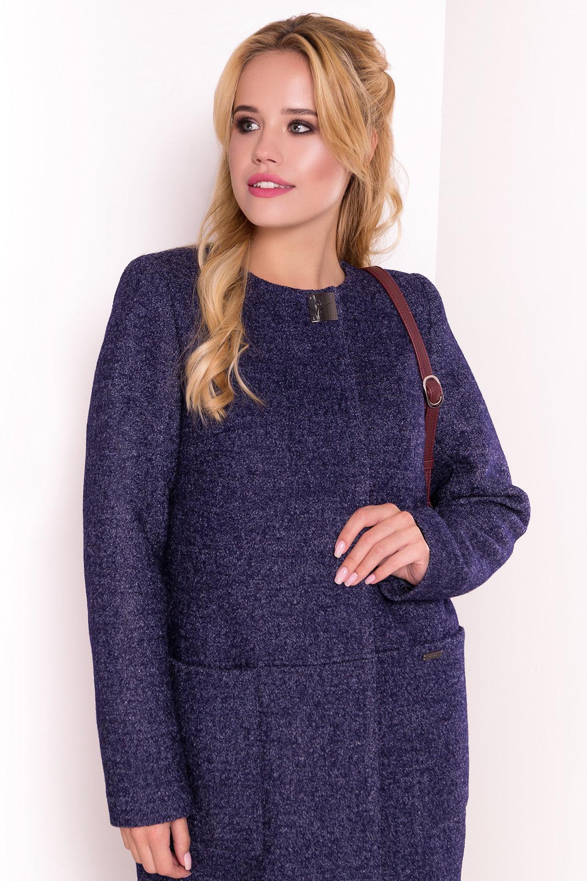 Пальто Дакс 1679 АРТ. 16669 Цвет: Темно-синий - фото 3, интернет магазин tm-modus.ru