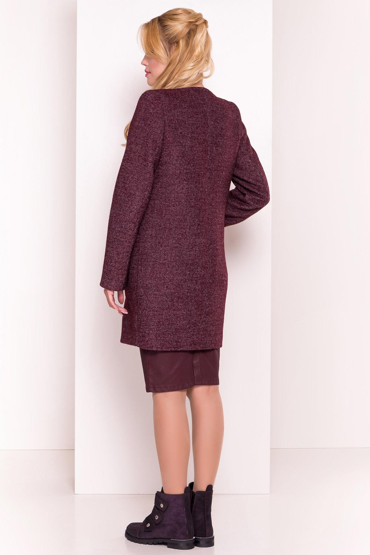Пальто на весну Дакс 1679 АРТ. 16668 Цвет: Марсала - фото 4, интернет магазин tm-modus.ru
