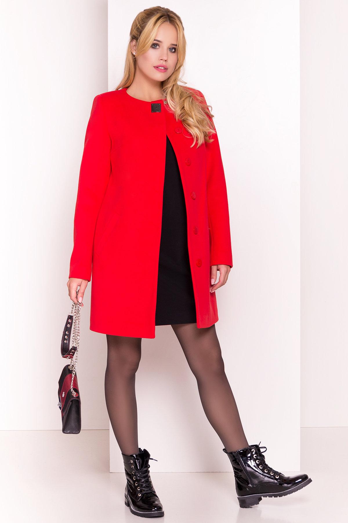 Пальто Фортуна 4812 АРТ. 5342 Цвет: Красный 6 - фото 1, интернет магазин tm-modus.ru