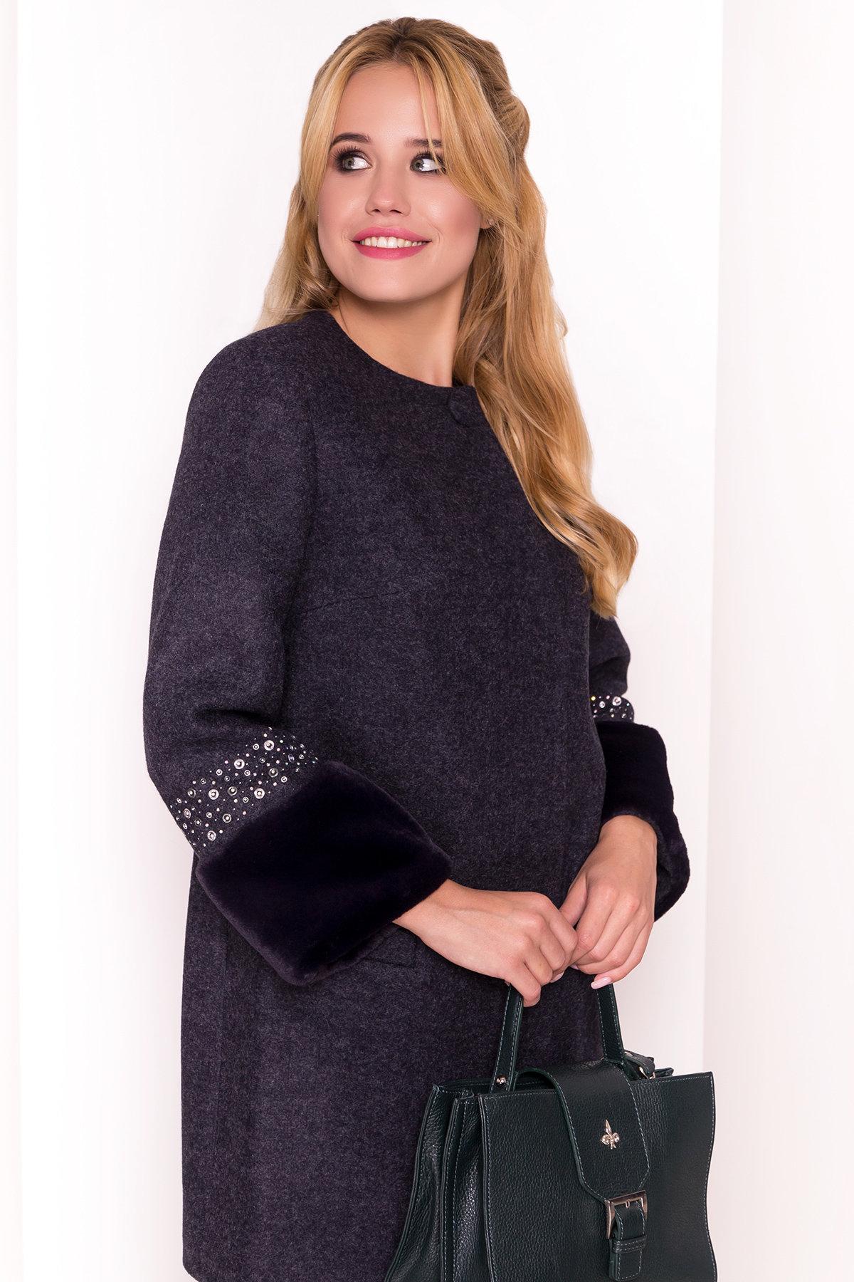 Пальто Амелия 4396 АРТ. 21450 Цвет: Темно-синий - фото 4, интернет магазин tm-modus.ru