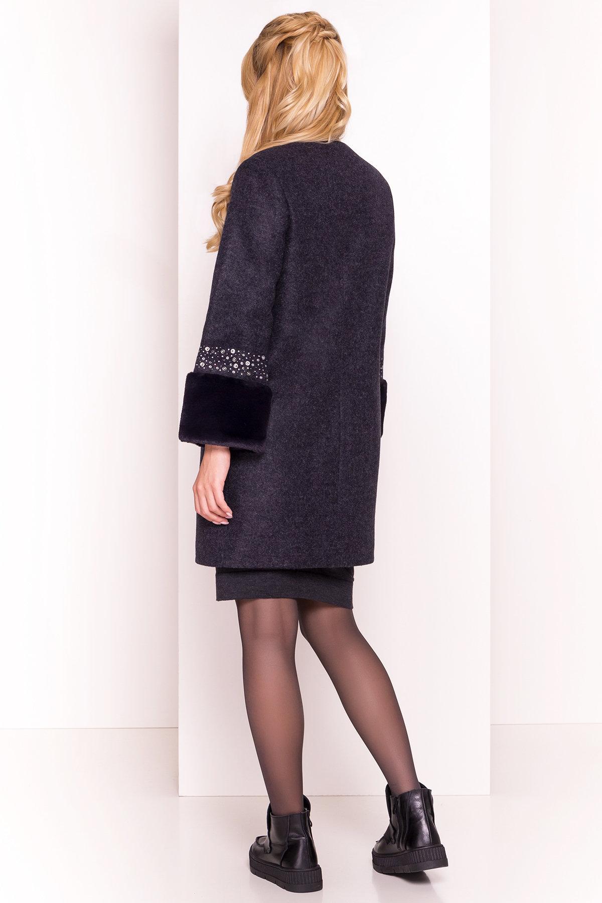 Пальто Амелия 4396 АРТ. 21450 Цвет: Темно-синий - фото 5, интернет магазин tm-modus.ru