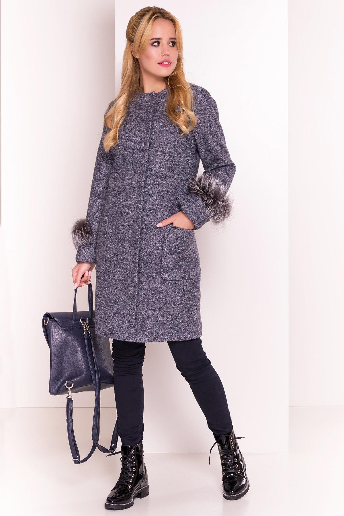 Пальто Кристина 5415 АРТ. 36566 Цвет: Серый темный LW-22 - фото 2, интернет магазин tm-modus.ru