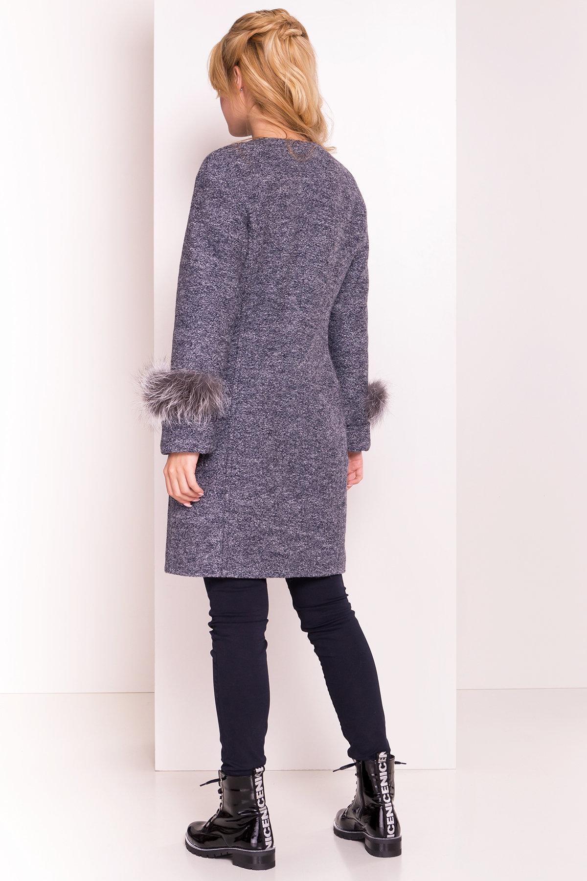 Пальто Кристина 5415 АРТ. 36566 Цвет: Серый темный LW-22 - фото 5, интернет магазин tm-modus.ru