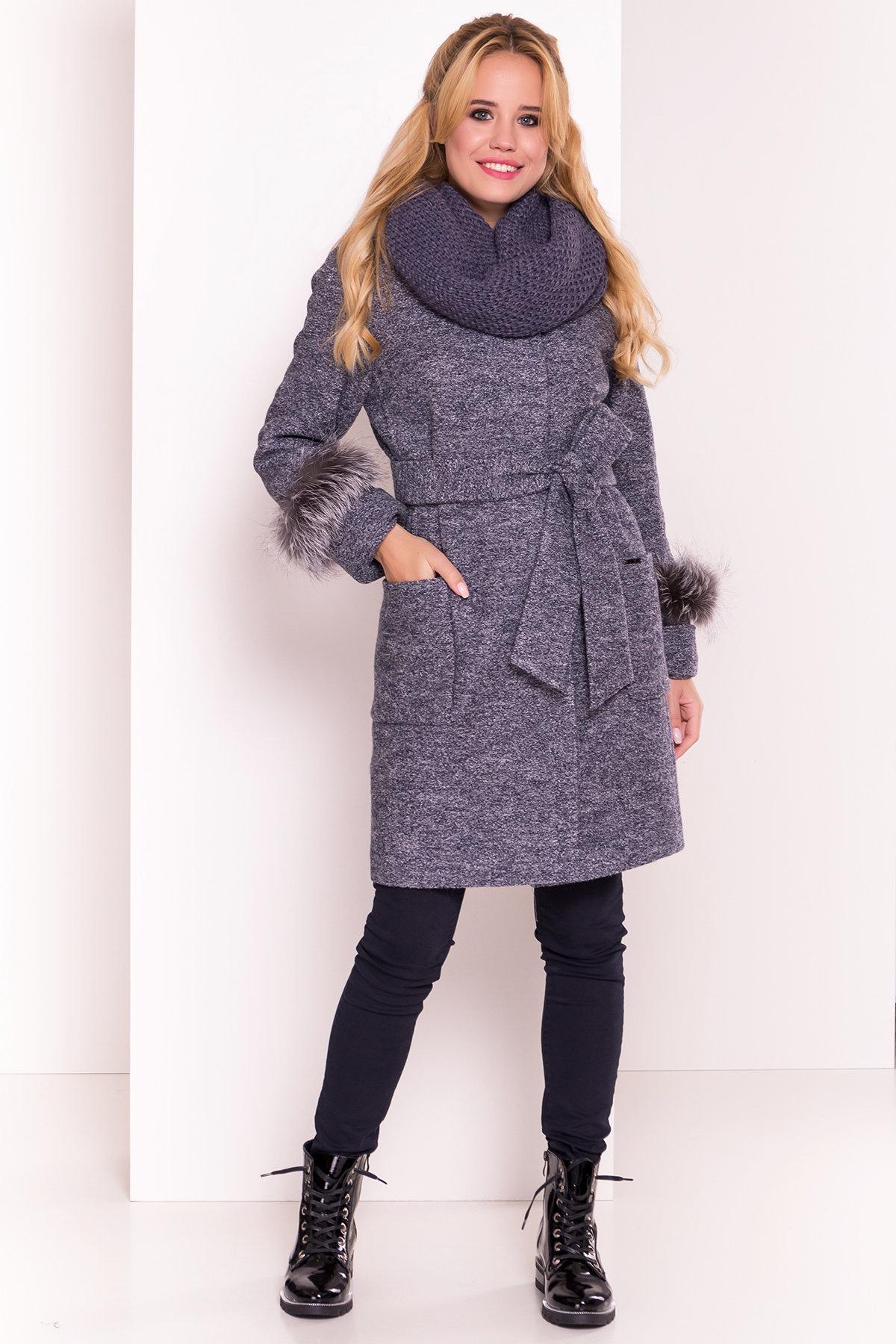Пальто Кристина 5415 АРТ. 36566 Цвет: Серый темный LW-22 - фото 4, интернет магазин tm-modus.ru