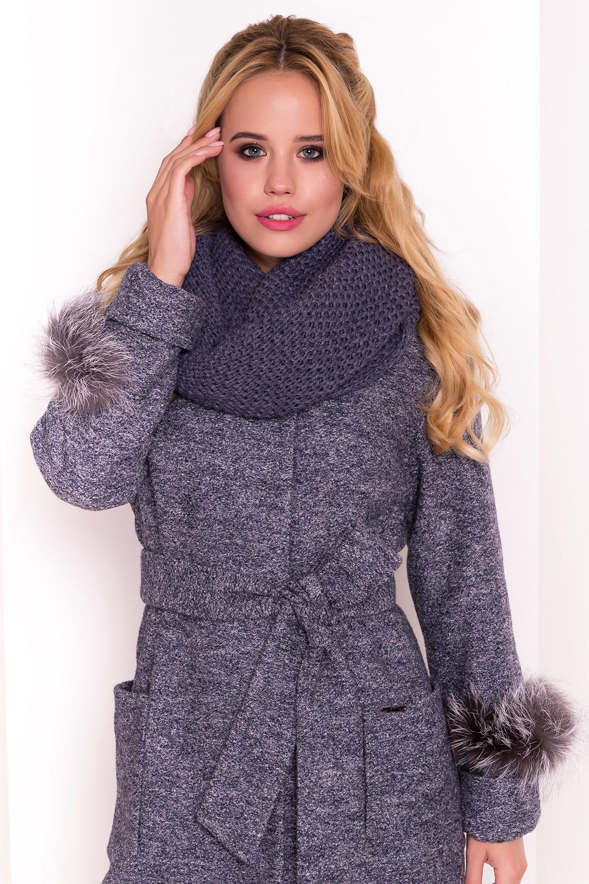Пальто Кристина 5415 АРТ. 36566 Цвет: Серый темный LW-22 - фото 6, интернет магазин tm-modus.ru
