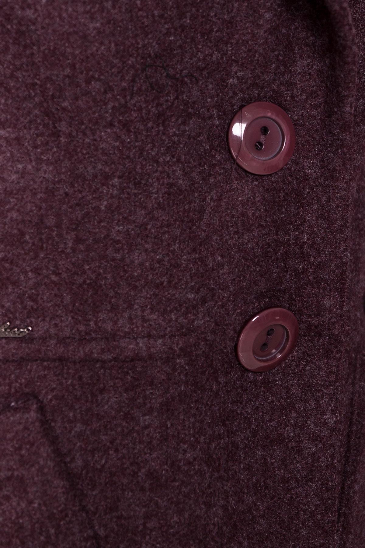 Пальто на весну-осень Габриэлла 4459 Цвет: Марсала