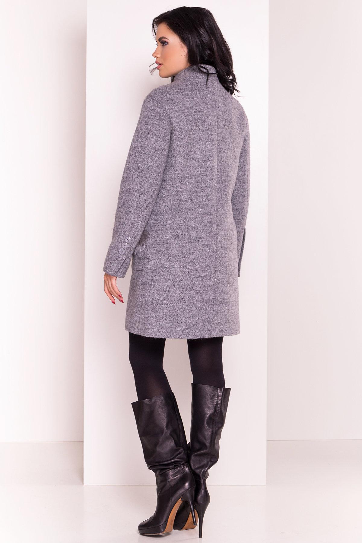 Пальто Этель 3342 Цвет: Серый 48