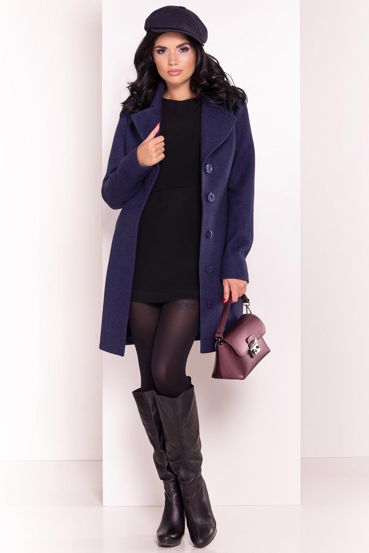 Пальто Камила 5373 АРТ. 36549 Цвет: Темно-синий 17 - фото 1, интернет магазин tm-modus.ru