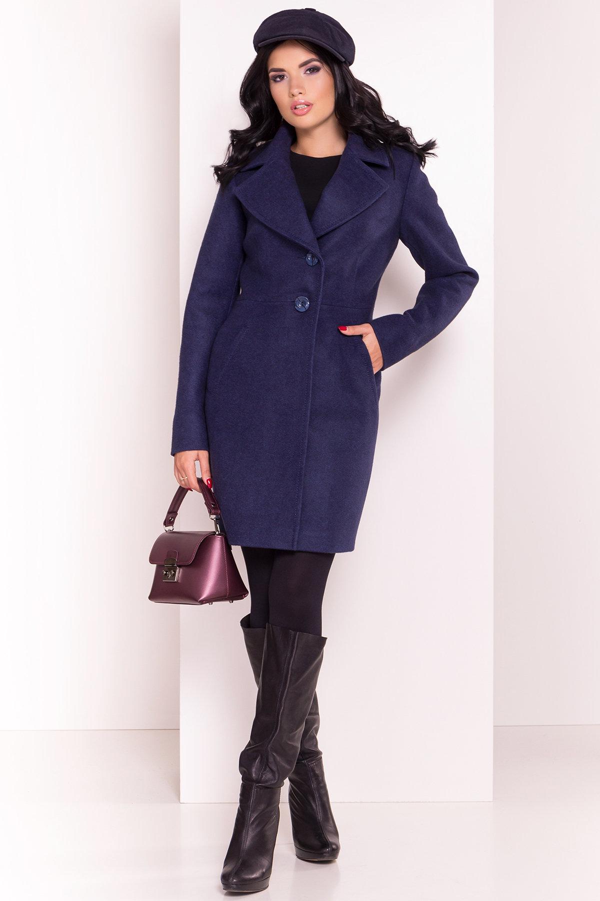 Пальто Камила 5373 АРТ. 36549 Цвет: Темно-синий 17 - фото 2, интернет магазин tm-modus.ru