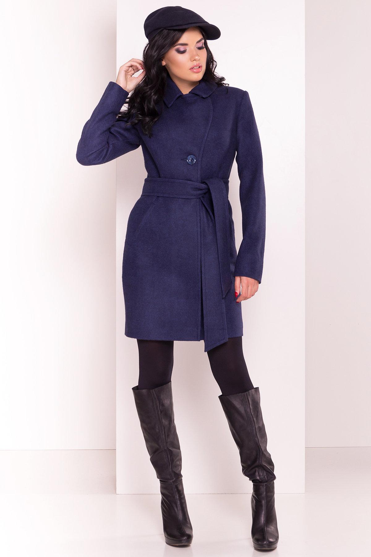Пальто Камила 5373 АРТ. 36549 Цвет: Темно-синий 17 - фото 4, интернет магазин tm-modus.ru