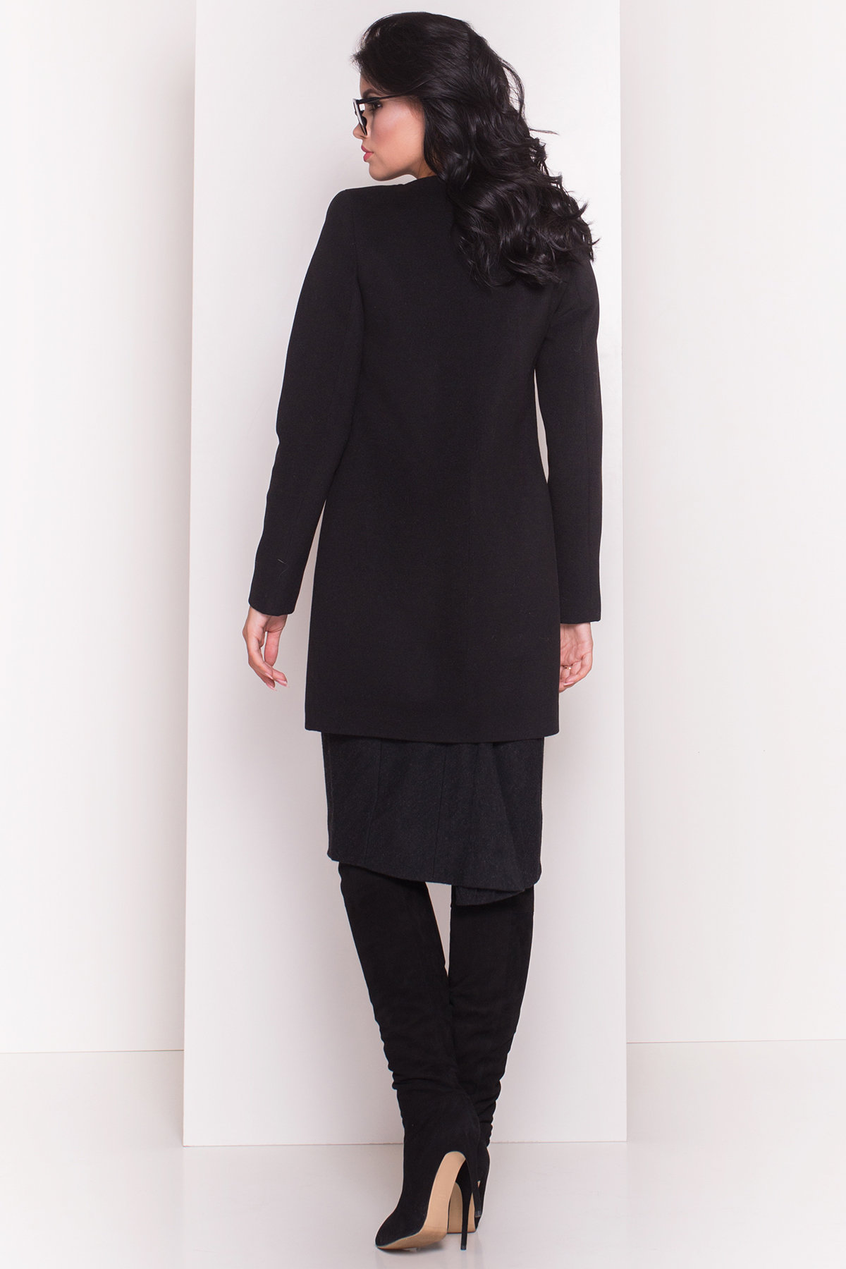 Пальто Фортуна 4812 АРТ. 6763 Цвет: Черный - фото 3, интернет магазин tm-modus.ru