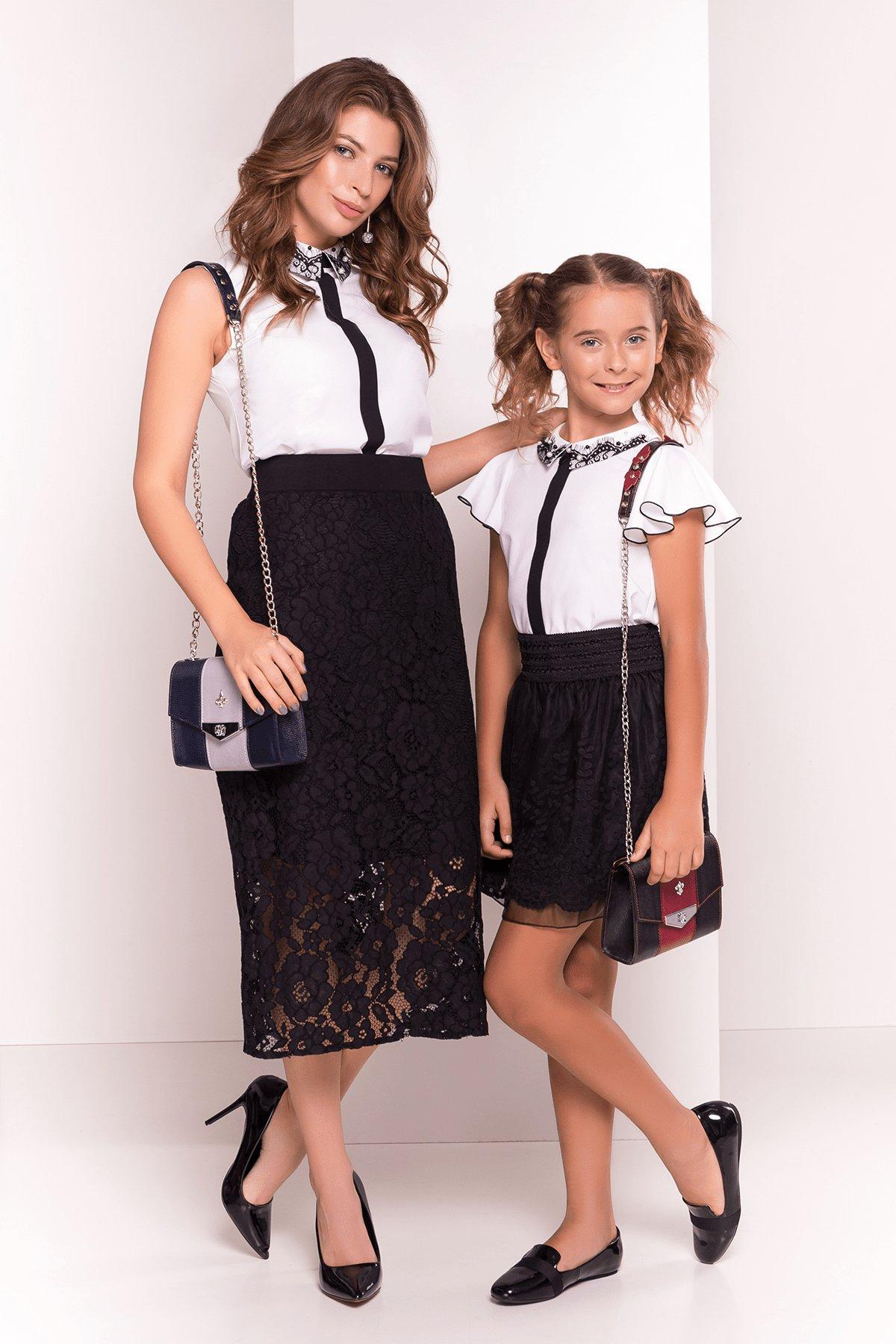 Блузка с вертикальной вставкой Мурия 5220 АРТ. 36304 Цвет: Белый - фото 2, интернет магазин tm-modus.ru