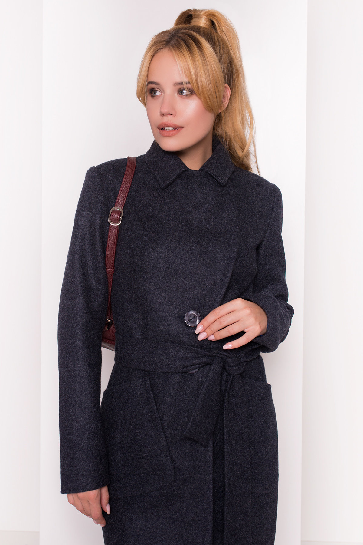 Пальто Габриэлла 4417 АРТ. 21337 Цвет: Темно-синий - фото 4, интернет магазин tm-modus.ru