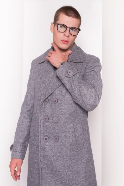 Пальто мужское Лоренс 5403 Цвет: Серый Темный LW-5