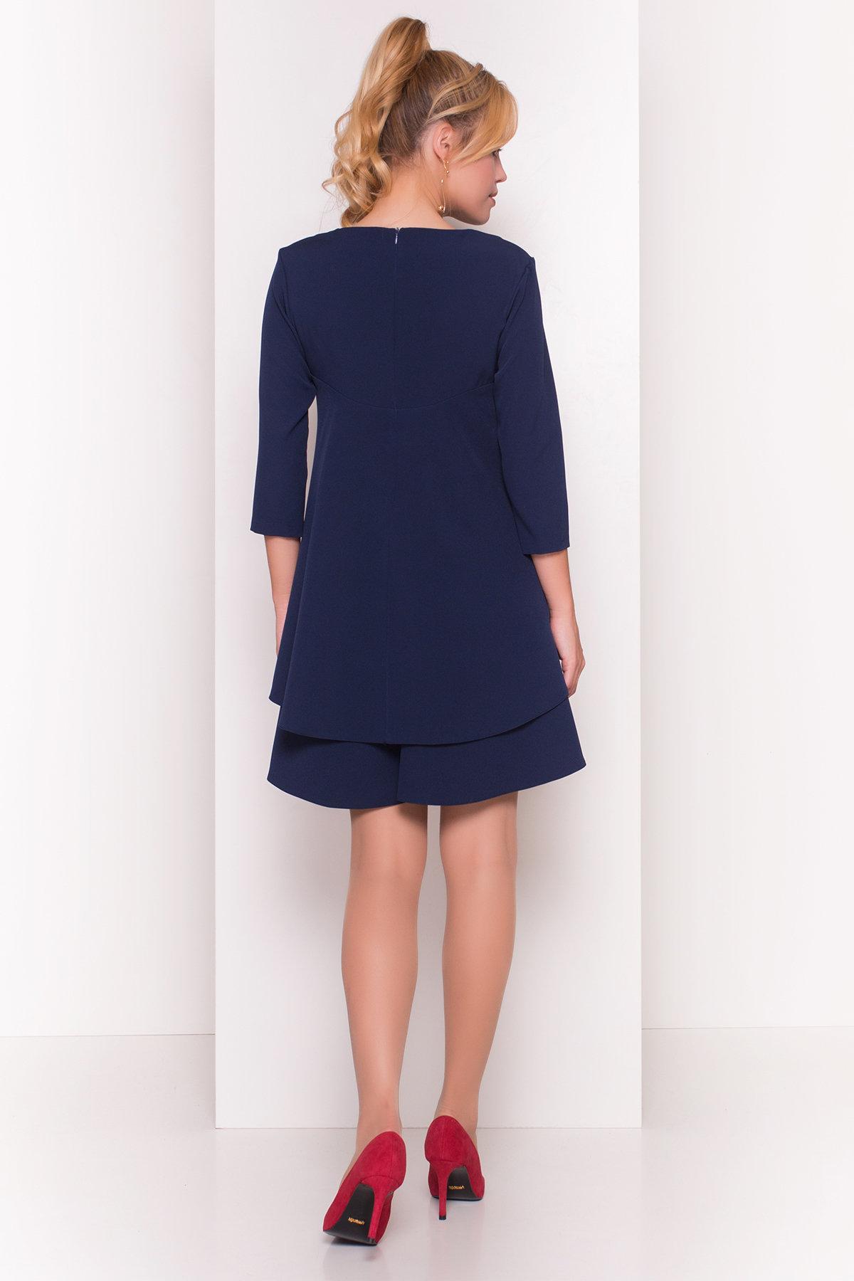 Платье Делафер 3245 АРТ. 16714 Цвет: Темно-синий - фото 2, интернет магазин tm-modus.ru