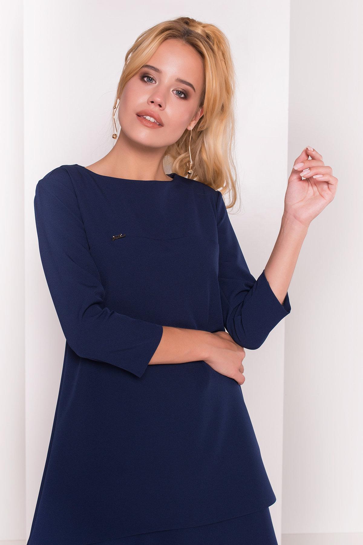 Платье Делафер 3245 АРТ. 16714 Цвет: Темно-синий - фото 3, интернет магазин tm-modus.ru
