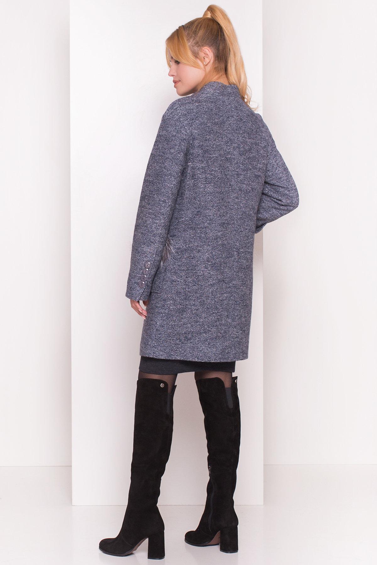 Пальто Этель 4369 АРТ. 21058 Цвет: Серый темный LW-22 - фото 4, интернет магазин tm-modus.ru