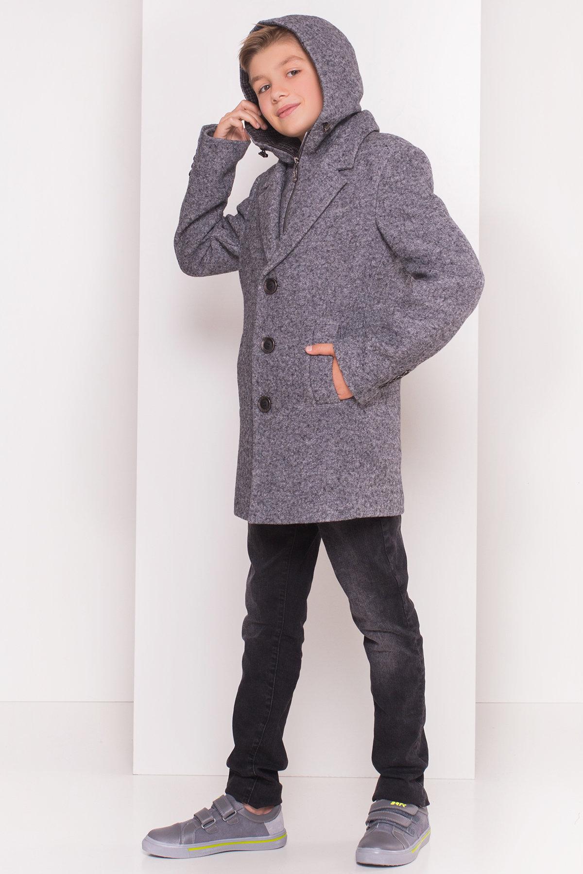 Пальто детское Джордж 5312 Цвет: Серый Темный LW-5