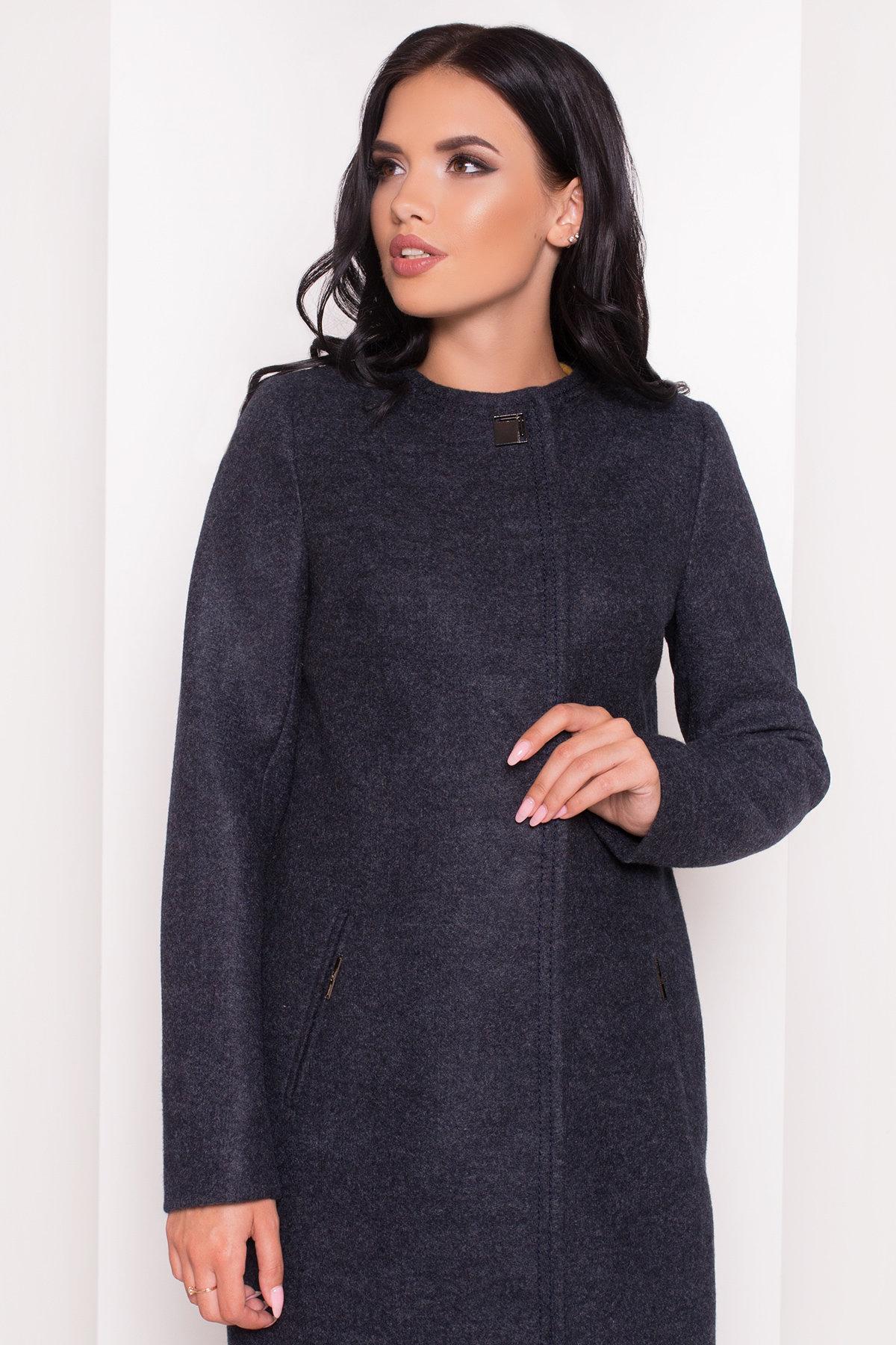 Демисезонное пальто Ферран 5369 АРТ. 36594 Цвет: Темно-синий - фото 2, интернет магазин tm-modus.ru