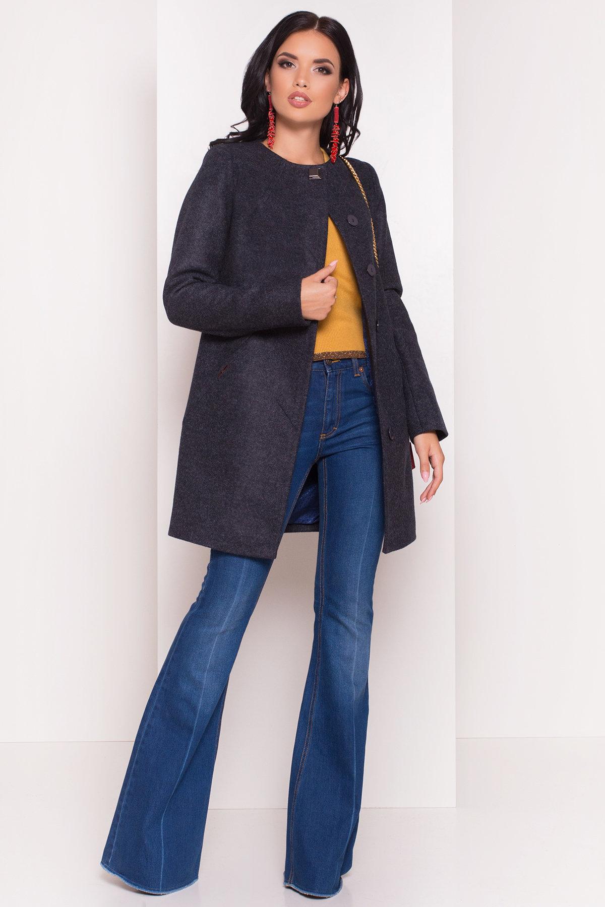 Пальто Шаника 5379 АРТ. 36615 Цвет: Темно-синий - фото 1, интернет магазин tm-modus.ru