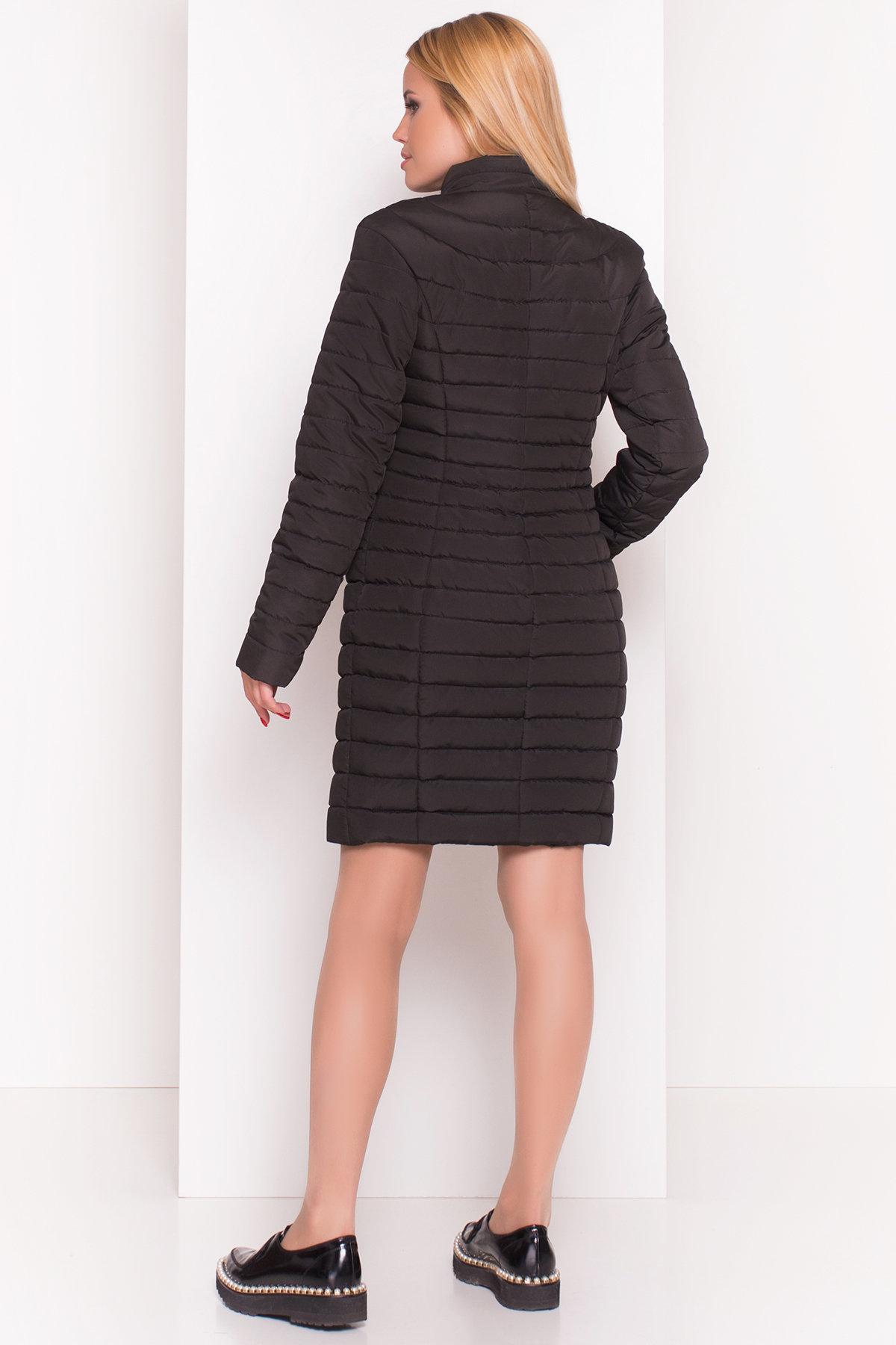 Стильное стеганое пальто Блисс 4520 АРТ. 36585 Цвет: Черный - фото 4, интернет магазин tm-modus.ru