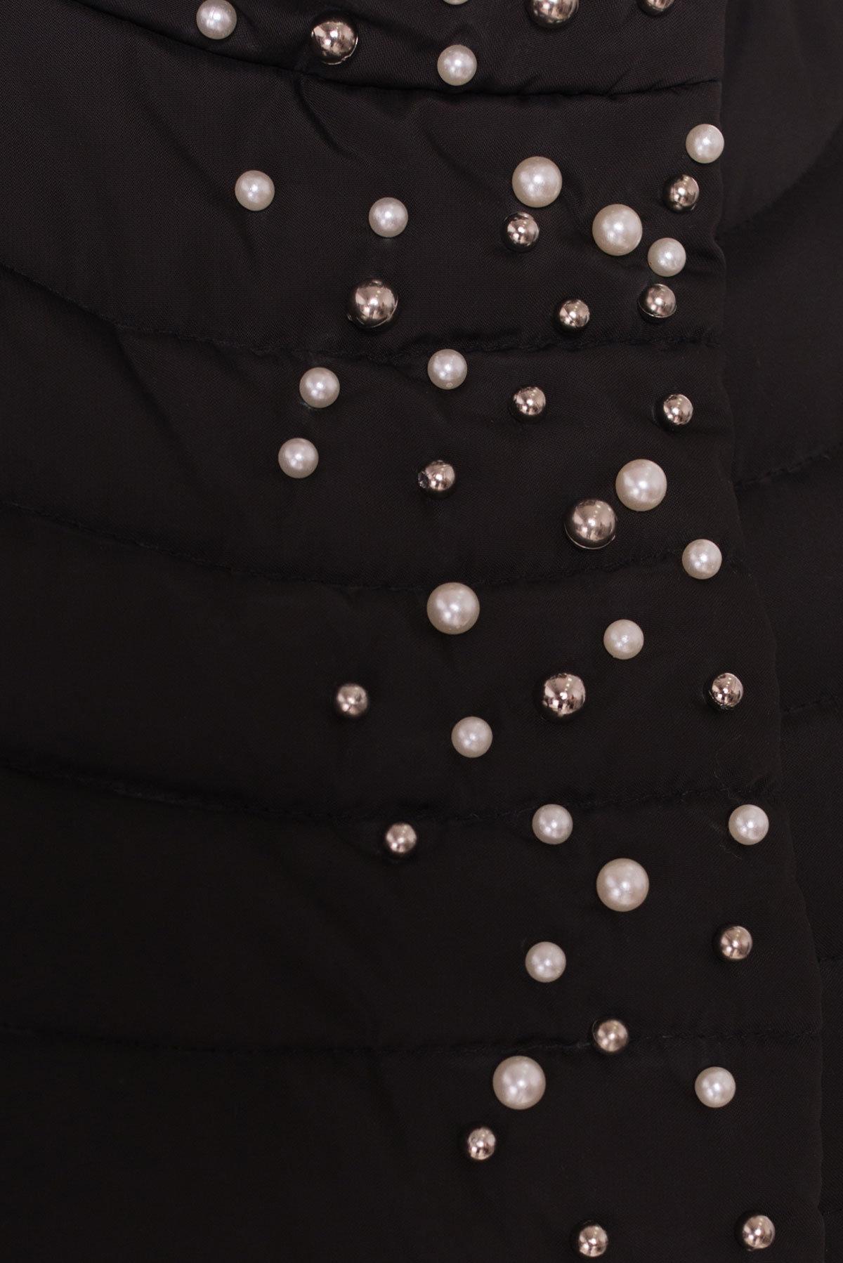 Стильное стеганое пальто Блисс 4520 АРТ. 36585 Цвет: Черный - фото 5, интернет магазин tm-modus.ru