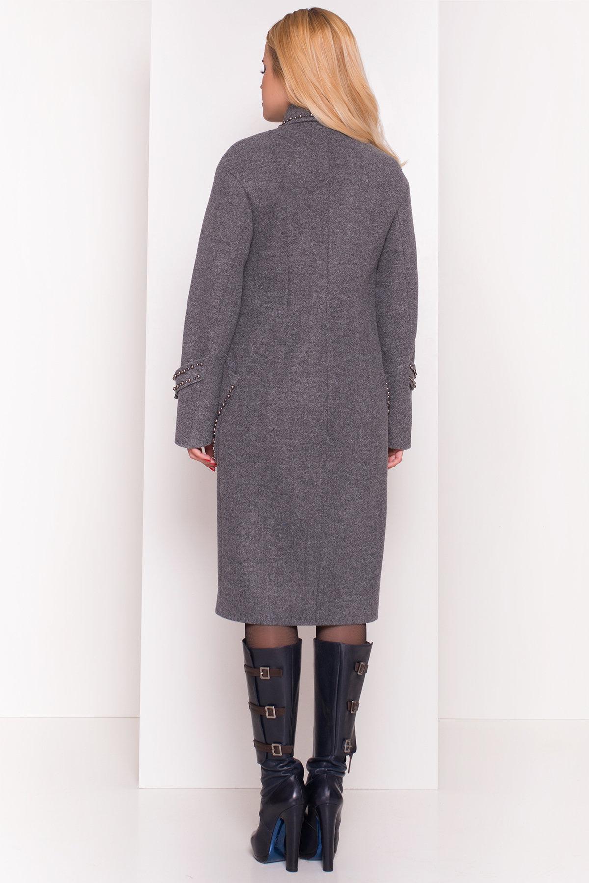 Кашемировое демисезонное пальто с декором Алина 5248 АРТ. 36624 Цвет: Серый Темный - фото 6, интернет магазин tm-modus.ru