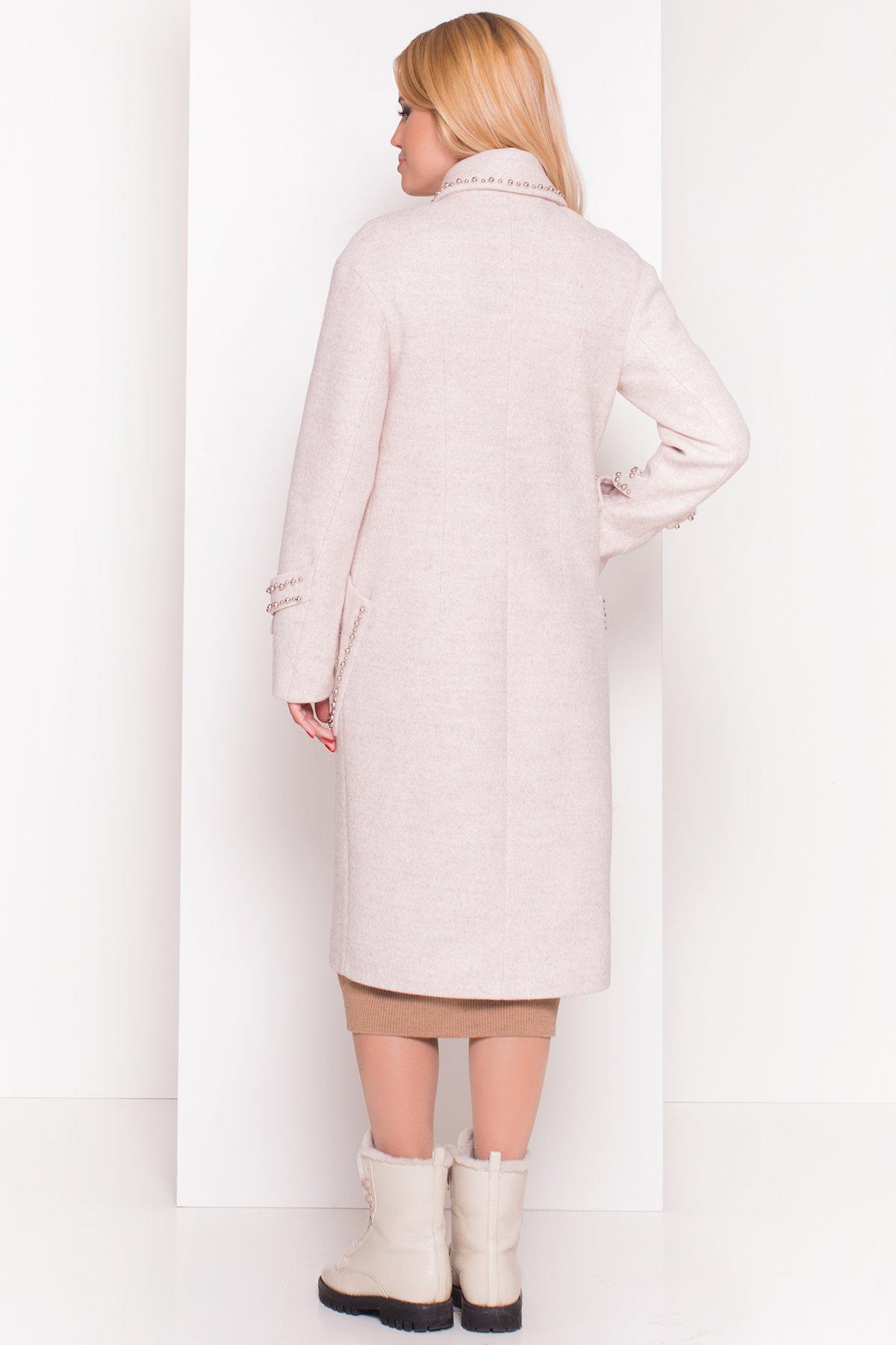 Кашемировое демисезонное пальто с декором Алина 5248 АРТ. 36621 Цвет: Бежевый - фото 5, интернет магазин tm-modus.ru