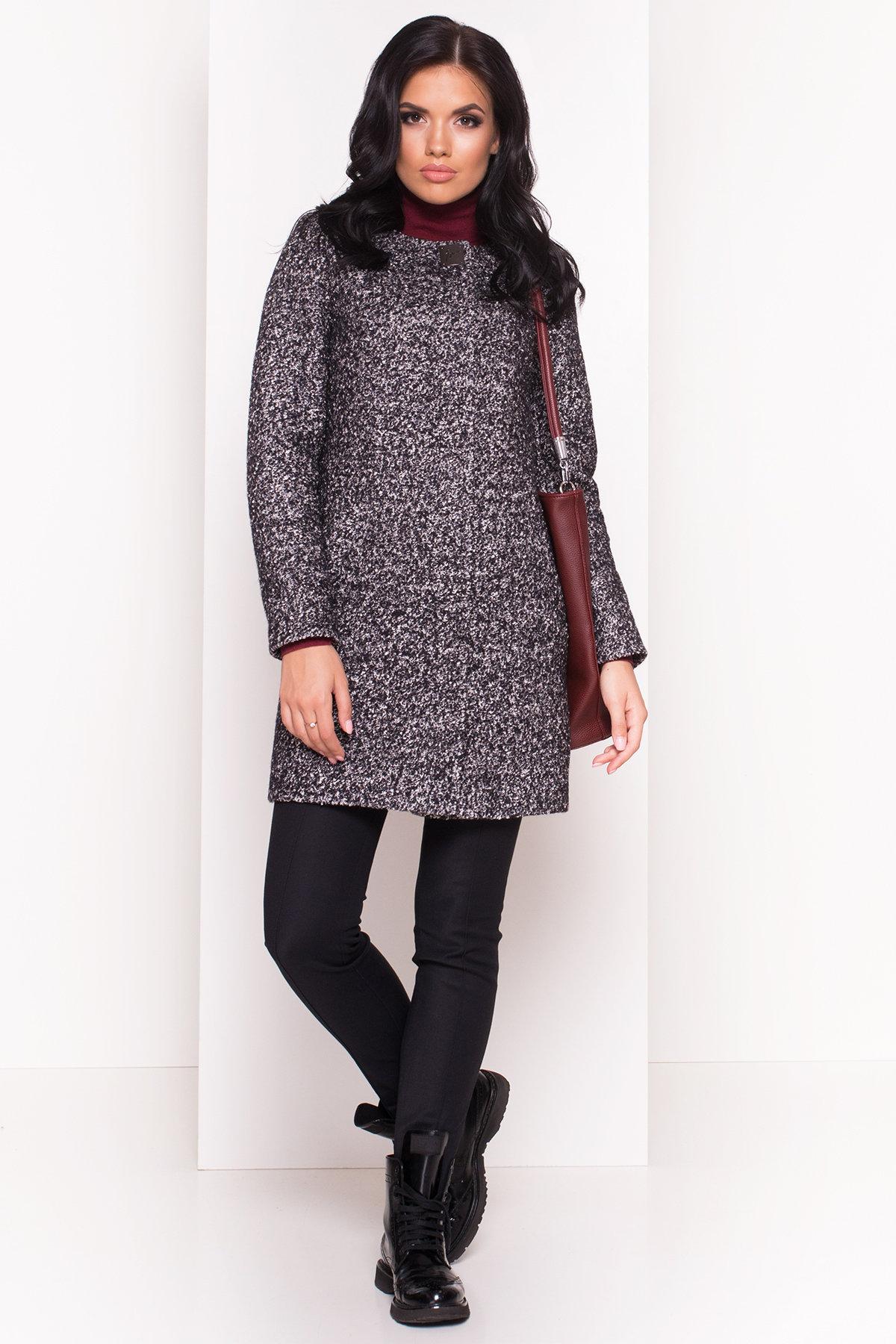 Пальто Фортуна 0904 АРТ. 8184 Цвет: Черный / серый 6 - фото 2, интернет магазин tm-modus.ru