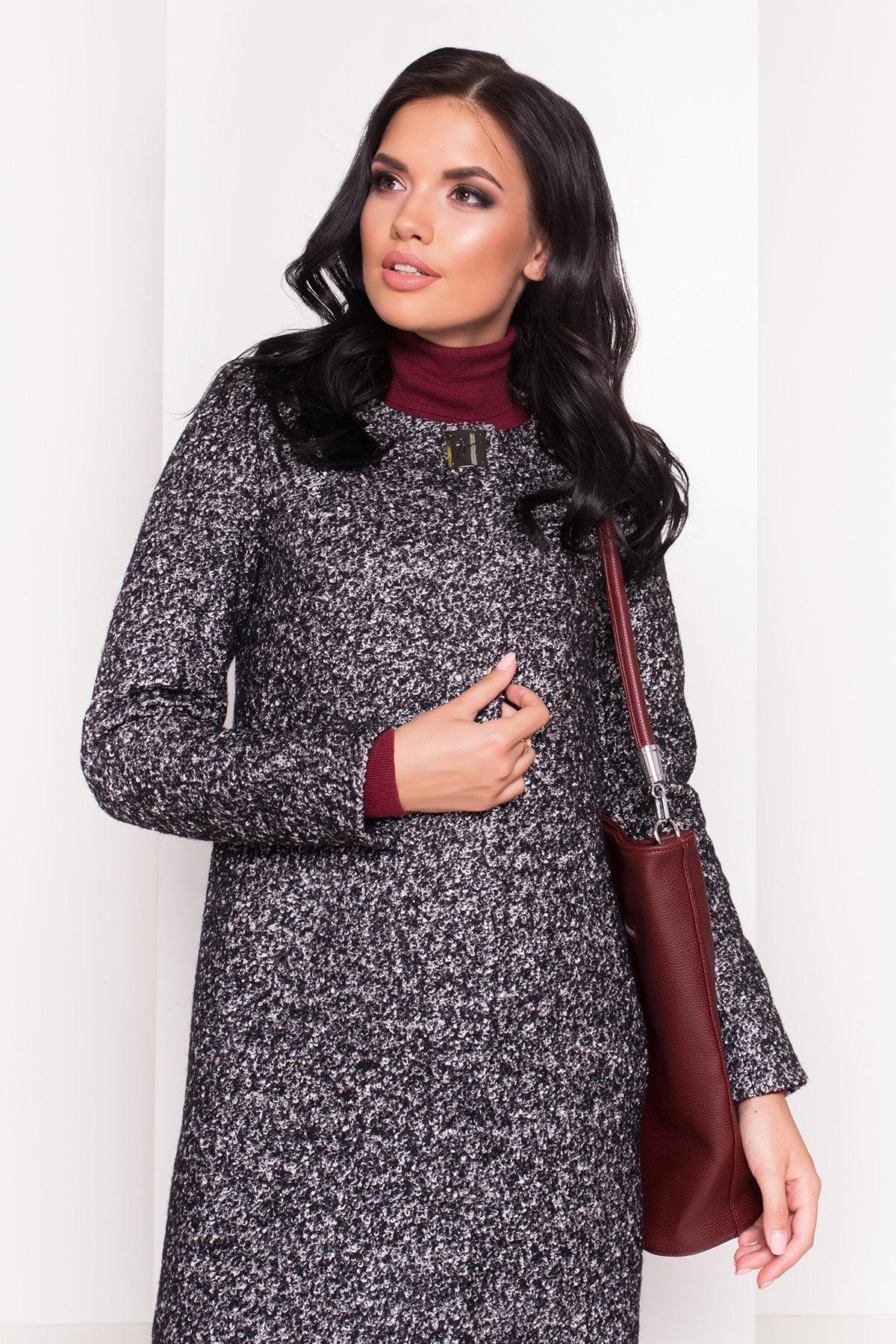 Пальто Фортуна 0904 АРТ. 8184 Цвет: Черный / серый 6 - фото 3, интернет магазин tm-modus.ru