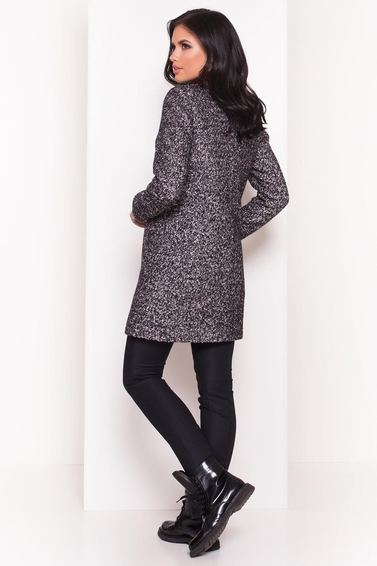 Пальто Фортуна 0904 АРТ. 8184 Цвет: Черный / серый 6 - фото 4, интернет магазин tm-modus.ru